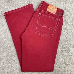 Lucky Brand Dungarees Red Jeans
